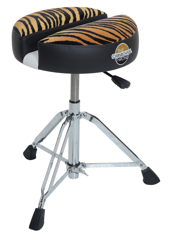 CT201-15CL – Premier Hydraulic Drum Throne With 15″ Dia Tiger Cloth Seat Top.