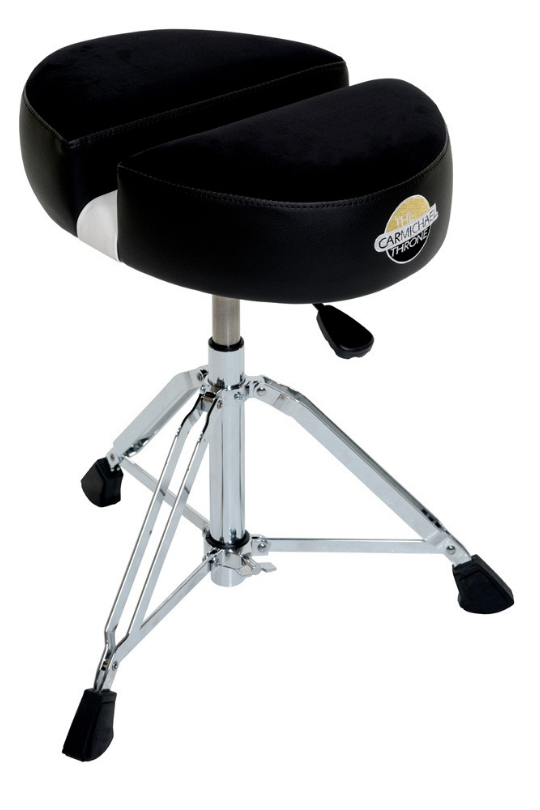 CT201-Double D-Black Cloth (Complete Heavy Duty Hydraulic Drum Throne)
