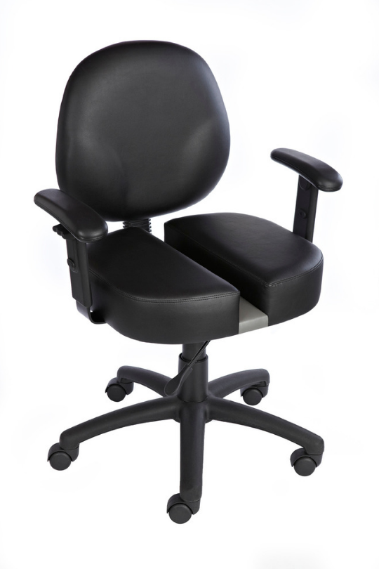 Carmichael CT9091 Diamond Task Chair W/ Adjustable Arms